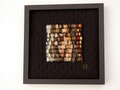 10. Erica Roch Mutandum 2 ( hand stitched and wraped wire metal and textiles 33x33cm)