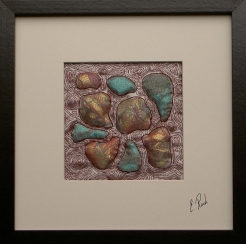 13. Erica Roch Pebbles 1(hand stitched recycled textiles 23x23cm)