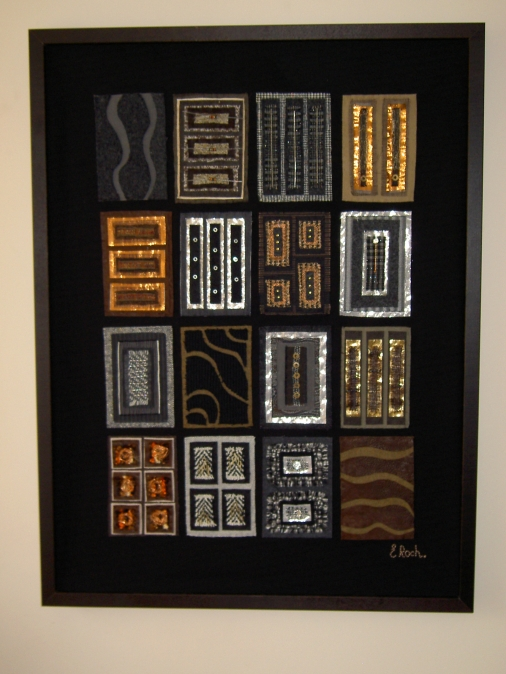 7. Erica Roch 'Abstraction 3'(recycled textiles and metals 83x63cm)